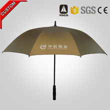 11 years factory high quality high quality promotional straight advertising golf umbrella