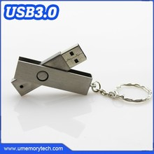 Swivel usb flash drive usb keyring metal wholesale key ring pen drive best quality