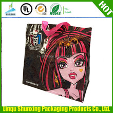 folding shopping bag / recycled pp woven bag / supermarket bag