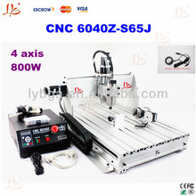 Free ship CNC router 6040Z-S65J with 800W water cooled spindle for 3D cnc + collet 3 pcs and tool bits 20pcs+4pcs gift