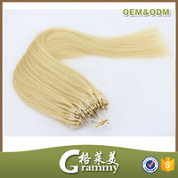 Hot selling wholesale no tangle no shed straight brazilian micro thin weft hair extension