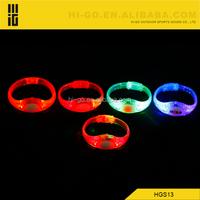 led wristband slap bracelet nylon glow in dark running item new innovation