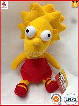 Plush Toy Factory Offer Custom The Simpsons Fashion doll 35cm