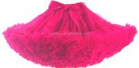 Hot sale fluffy tutu skirt chiffon petticoat for girls