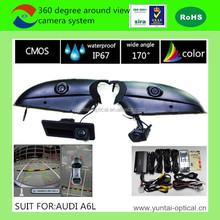 CE FCC certification hd backup camera system, 360 degree bird view camera system with recording & moving guide line for car