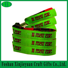 Festival concert party entrance woven wristband with plastic closure