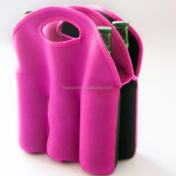Wholesale Custom 3.0MM Neorpene Bottle Cooler Bag Totes, 6 Beer Bottle cooler Bag