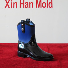 PVC Two Color Lady Rain Boot mould Design