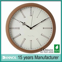 12inch relogio com numeros romanos old time wall clocks/brown antique european style wall clock