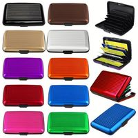 HT009 Aluminum Credit Card Case Alu Wallet Protect From RFID Scanning Card Holder Case