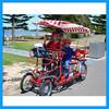 """steel four wheel bike two people bike with 16"""" wheels"""