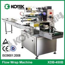 máquina envolvedora de flujo horizontal con CE para alimentos, bocadillos, panadería, almohadas en Wenzhou, China