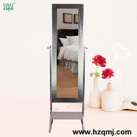 home decoration standing mirror jewelry armoire