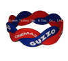 Two Color Cross Silicone Bracelet