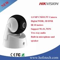 Hikvision 1.0mp cmos pt camera,wifi ip camera,microphone and speaker cctv camera