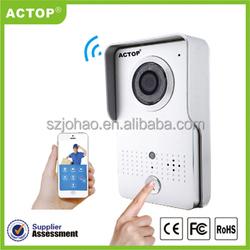 Wireless door bell and night vision door peephole motion detector wifi