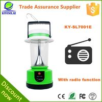 Factory patent design 3.7v 4.4ah lithium battery rechargeable lantern with radio