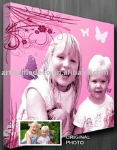 wall art from digital photos printed on canvas