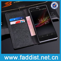 Genuine Leather for Sony Xperia Z Cover Wallet Case