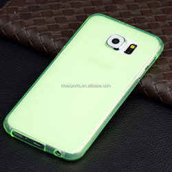 China Wholesale Best Price TPU half clear Blank Phone Case cover For samsung galaxy s6