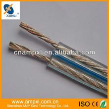 2015 hign end transperant 14/16awg copper speaker cable