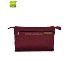 2015 Latest design and new product korean fashion wash nylon tri-folded toiletry mum bag for women