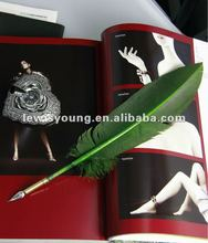Natural design calligraphy feather fluffy pen