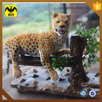 HLT wild animated leopard animatronic animals sculpture