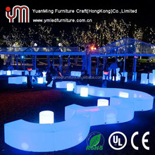 bar table/plastic furniture led chair/led outdoor furniture