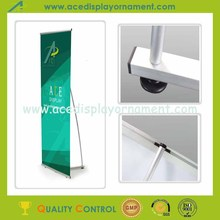 Aluminum L shape display banner L stand for advertising