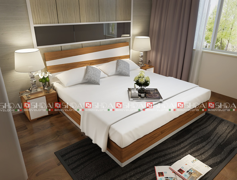 En bois reine taille lit mobilier design en bois b 818 lots de literie id de - Taille lit queen size ...