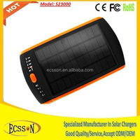 23000mah solar power bank charger, solar laptop charger for emergency