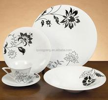 China Manufacturer flowered chinaware ceramic dinnerware set, round ceramic tableware 20/30pcs with nice prints