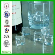 factory custom reusable acrylic plastic ice cubes