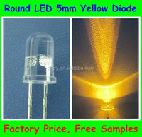 Factory High Quality dip led diode 5mm round Yellow ( 585-595nm ) Dip led Lighting Diode ( CE & RoHS Compliant )