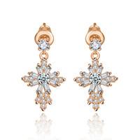 Fashion earring of AAA zircon diamond earring african fashion 2015 fashion jewelry brand