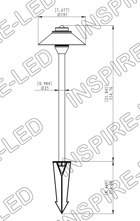 brass landscape fixture path light ptb208e