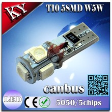 Hot sale!!! T10 5SMD CANBUS guangzhou factory manufacturing 12v DC auto light,car led light surface mounted led ceiling light