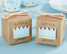 Newest Baby Gift box Little Prince Kraft Favor Boxes for baby birthday party favor baby shower