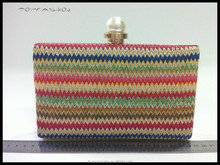 Spain style women raffia clutch bag popular women straw bag classic straw bag TFP1687