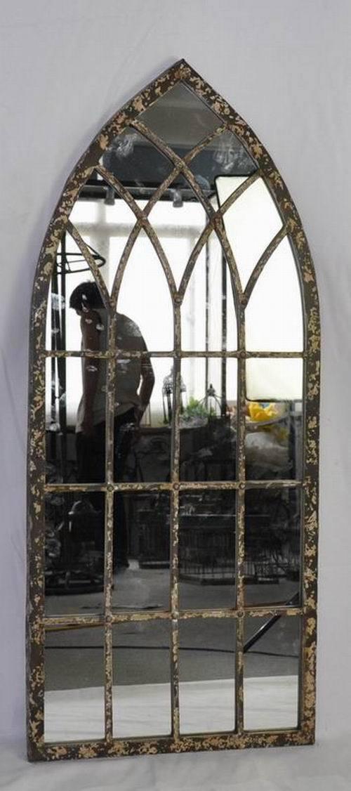 Shabby chic metalen gothic tuin spiegel spiegels product for Spiegel 2 meter