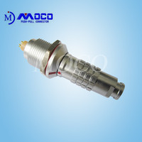0K 1K 2K 2 pin female and male waterproof electrical connector with bend relief
