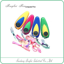 2015 promotion custom logo plastic compass cord ball pen