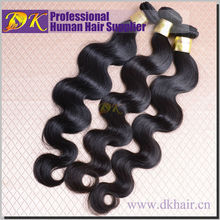 2015 best sale hair extension 16 inch body wave hair weft brazilian human remy hair extension