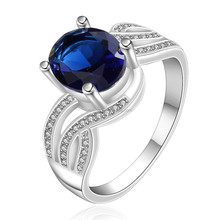 2015 wholesale jewelry fashion jewelry 925 silver plated gemstone ring R660
