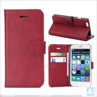 For iphone 6 case wallet, factory price wallet leather case for Iphone 6 plus
