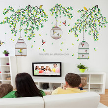 Vitality green branches cage wall environmental protection remove bedroom living room TV background decoration Stickers JM7259