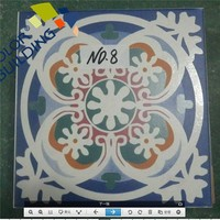 Flower Pattern Handmade Ceramic Tile Mexican Style Wall Tiles