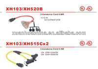 power cord with UL certificaiton extension with 4 outlet and the cable lengthe10 feet