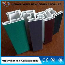 Lanke Wood Laminate Colorful PVC Profiles For Casement Window